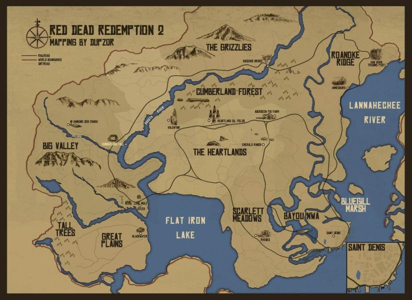 Red Dead Redemption 2 Fan Made World Map Looks Amazing  Comparison     This map was created by user DupZor on the GTA Forums  One Reddit user has  taken this map to scale it next to the world map featured in Red Dead  Redemption