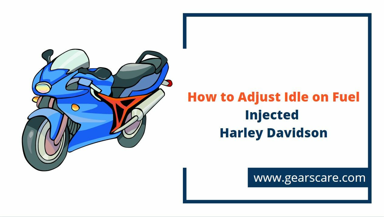 how to adjust idle on fuel injected harley davidson