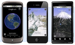 Google Earth on Mobile Phones