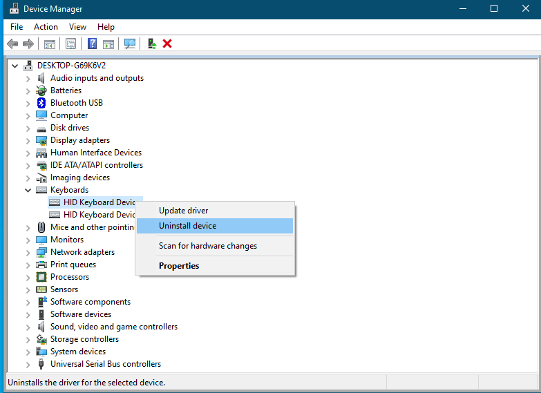 Is it possible to disable Laptop Internal Keyboard on Windows 10?