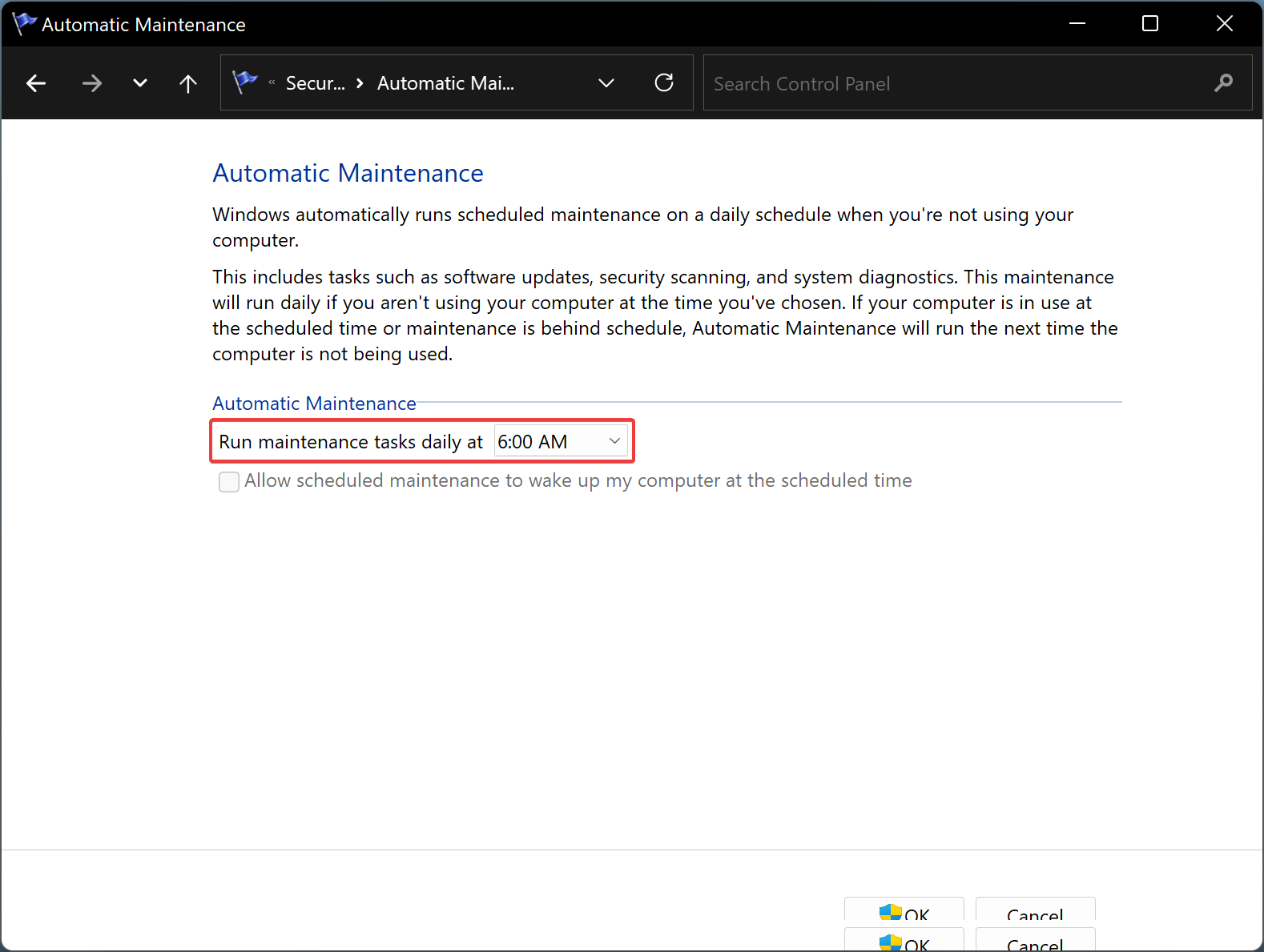 How to Schedule Automatic Maintenance on Windows 11?