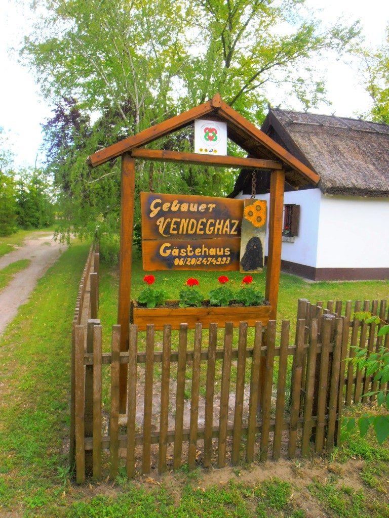 Gebauer vendégház bejárata