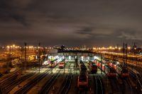 Eisenbahngelände in Mannheim