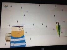 Gib Fiete einen Regenschirm