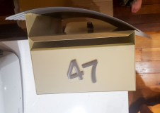 "Playing with numbers for the new letterbox. Will declared this ""too jaunty""."