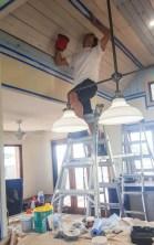Painting ceiling trim