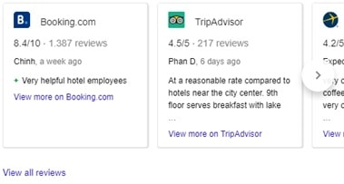 Google hotel meta search::: Compare reviews