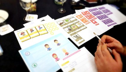 Attendees using Gamification Canvas Evolution Prototype during the workshop at Gamification World Congress 2015