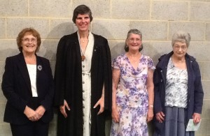 left to right Fay Watson, Revd. Alison Davis, Molly Marshall , Muriel Squibb