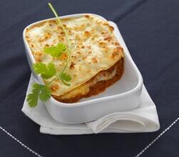 Lasagne bolognese med gedeost
