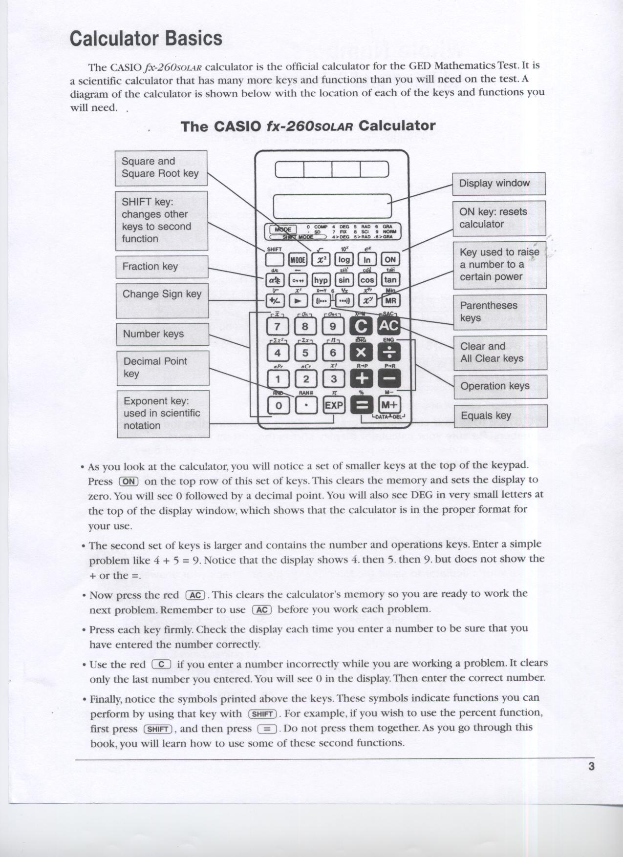 Calculator Used On Ged Math Test