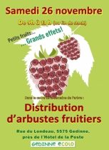 Distribution d'arbustes fruitiers