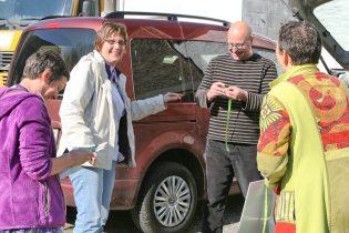 Géraldine Godart et Michel Thomas au marché de Gedinne