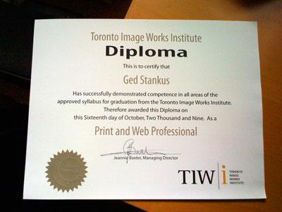 2009 Print & Web Professional Diploma