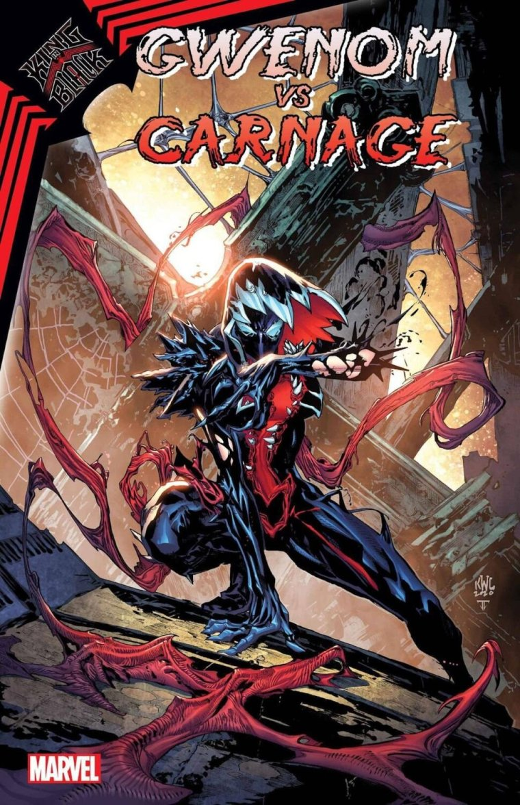 """SYNOPSIS:    """"Bonded to a synthetic symbiote from another reality, Ghost-Spider, aka Gwen Stacy of Earth-65, is unique among the webslingers of the multiverse!"""" it continues. """"But when Knull descends on her adopted home, his gravity well of dark psychic energy will reap unforeseen consequences not only on Gwen, but on her symbiotic suit as well!"""""""