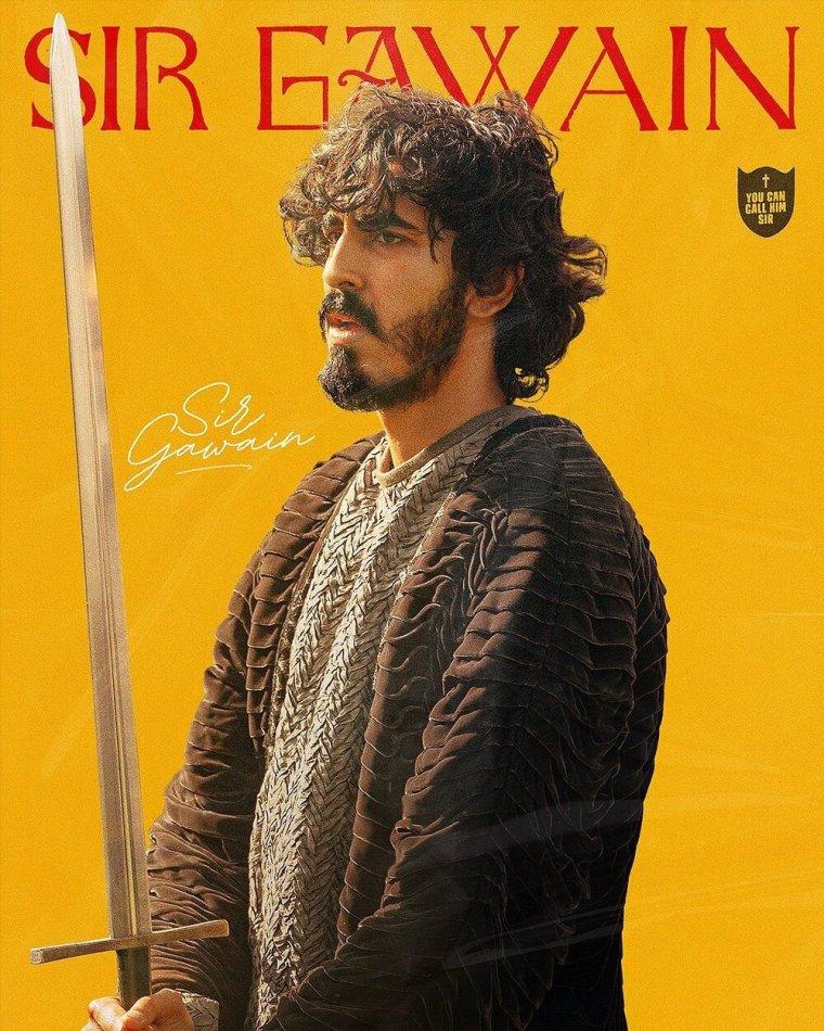 the green knight gawain poster yellow