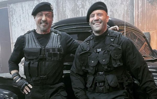 EXPENDABLE 4 Photos Give Us Our First Look At Sylvester Stallone and Jason Statham