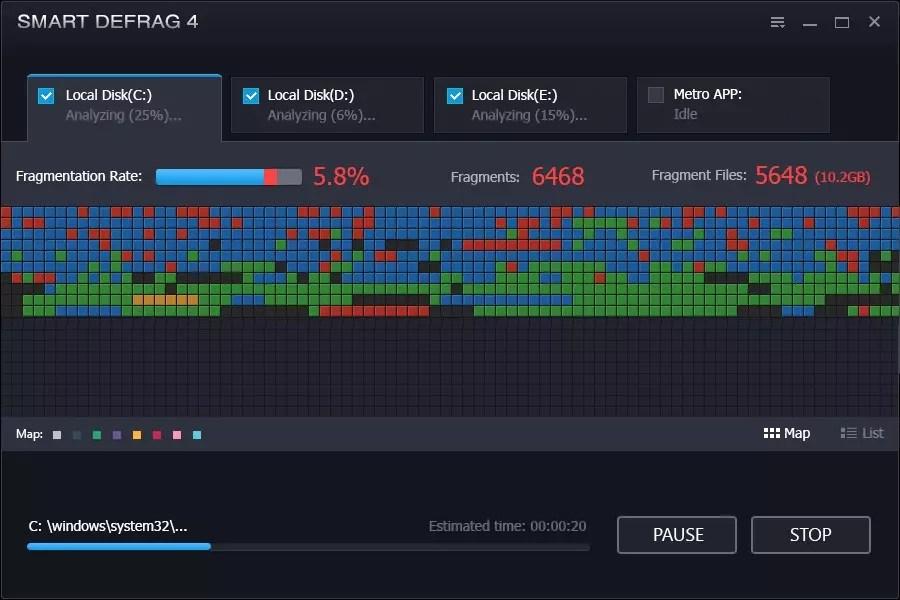 تحديث برنامج الغاء التجزئة و تحسين أداء الجهاز : IObit Smart Defrag 6.4.5.99
