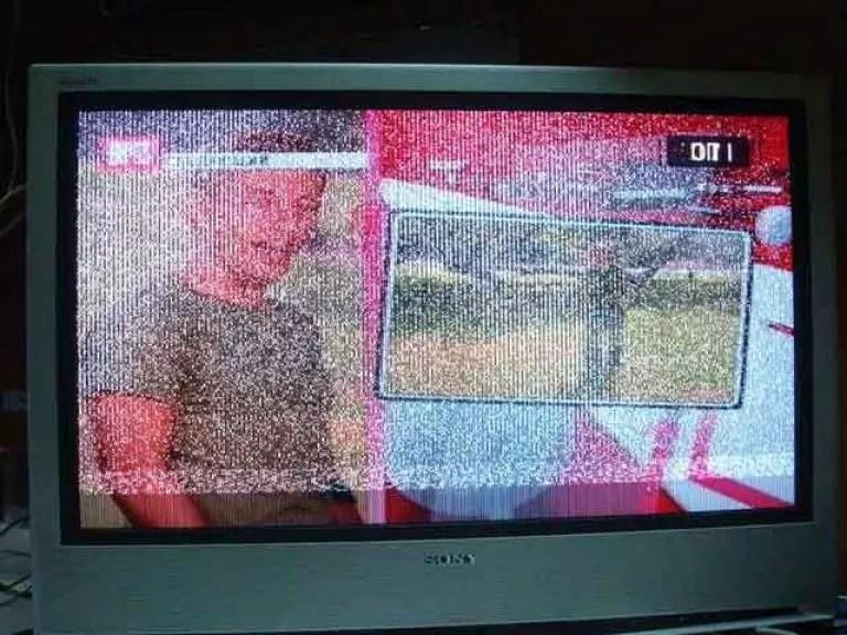 Картинка в негативе на жк телевизоре причины