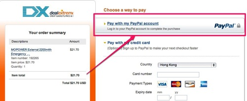 Pay with a credit card  PayPal
