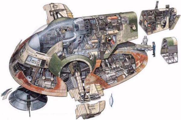 Infografica: dimensioni comparate delle astronavi
