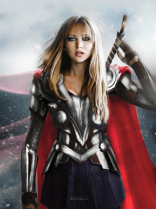 Jennifer Lawrence è Thor