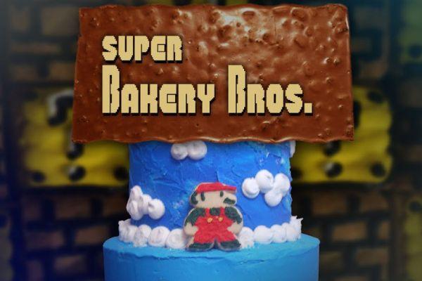Un livello di Super Mario riassunto in una torta. Rotante!