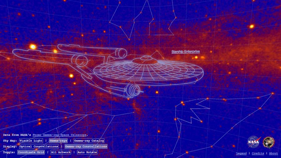 Star Trek: la NASA dedica una costellazione all'astronave del Capitano Kirk