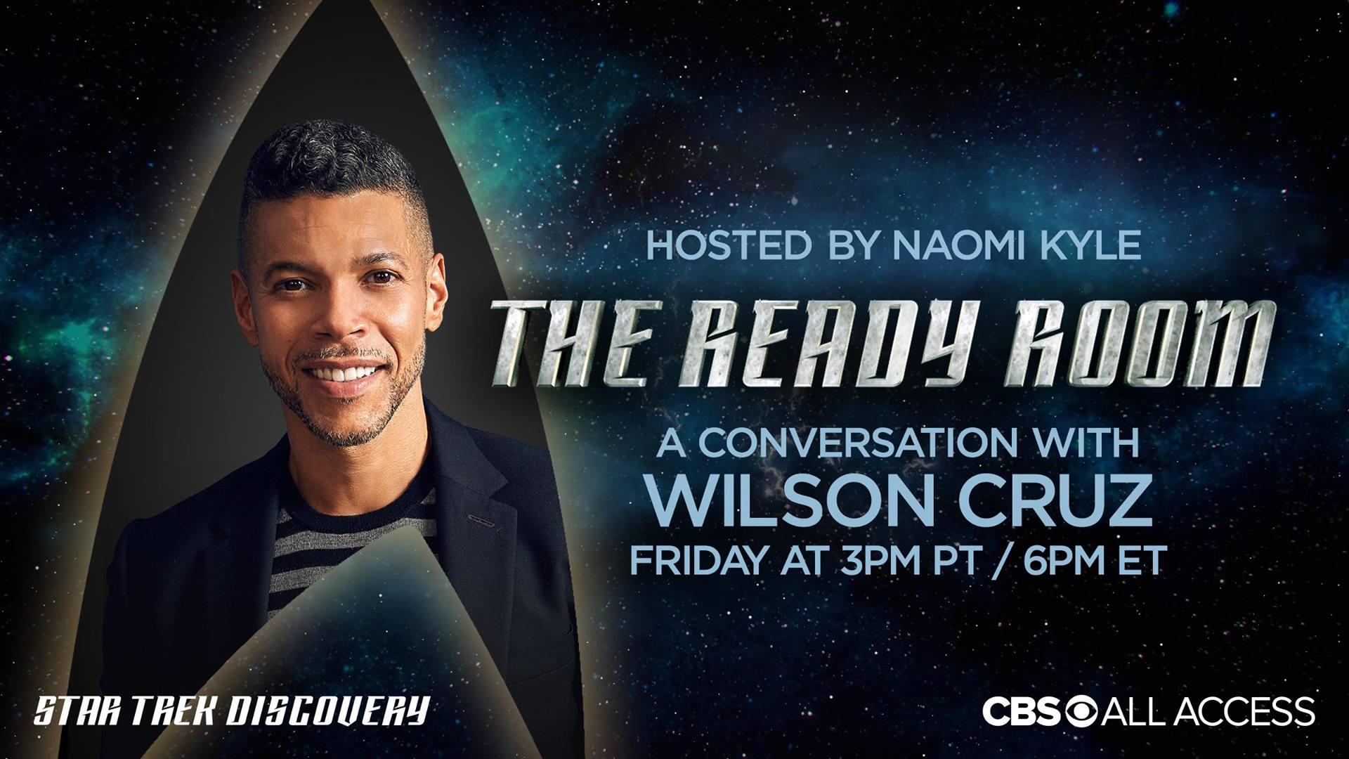 Star Trek Discovery: Wilson Cruz ospite a 'The Ready Room'
