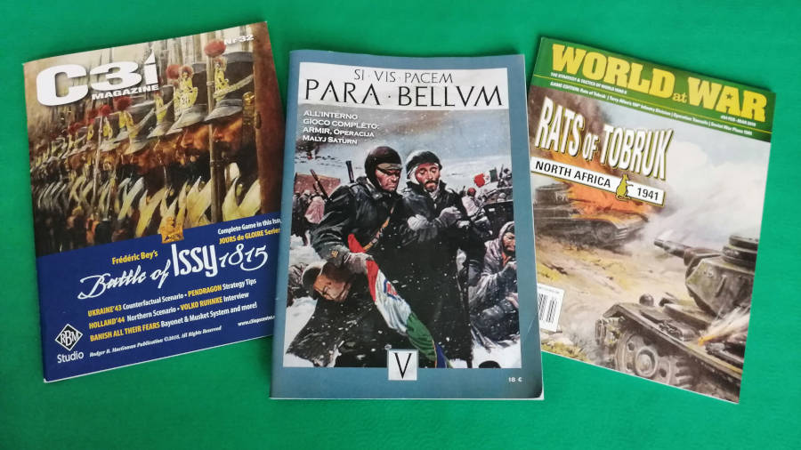WLOG 27 – Tre riviste di wargame: C3i, World at War, Para Bellum