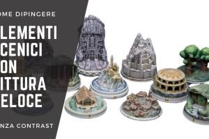 Kiki's Miniatures Mania – Come dipingere elementi scenici con pittura veloce – Città de La Guerra dell'Anello