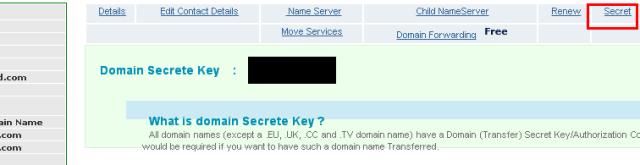 netspaceindia epp secret code namecheap