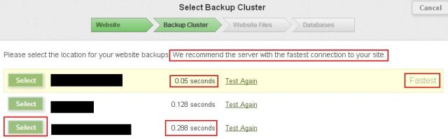 Comcure Backup Cluster