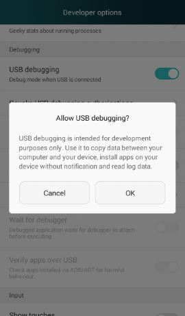 honor 3c usb debugging