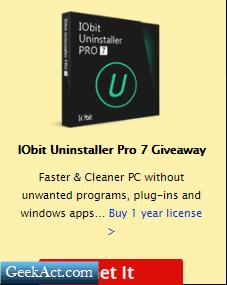 IOBit Uninstaller Giveaway