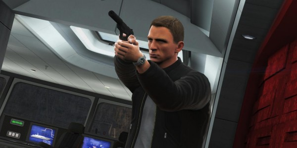 Daniel Craig in Golden Eye, even though he wasn't in the movie...