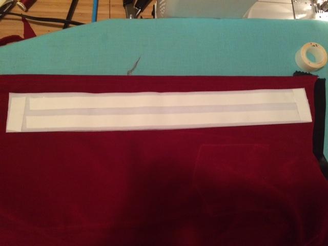 Hem tape used to avoid additional seams