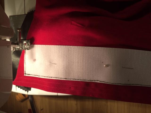 The sewn Velcro
