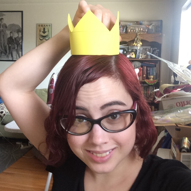 """I made this crown ½"""" shorter than my original since it seemed a touch too tall for my head. I think this one suits me better!"""