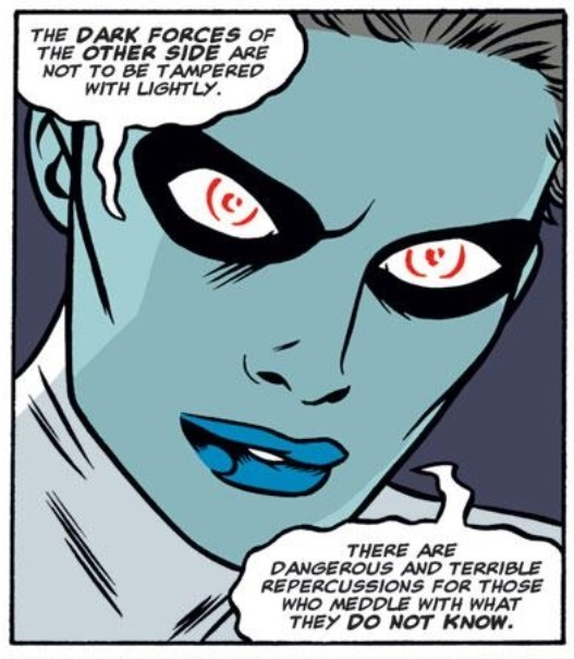 Geez…Welcome to the D-List, Ms. Buzzkill. (Art by Mike Allred)
