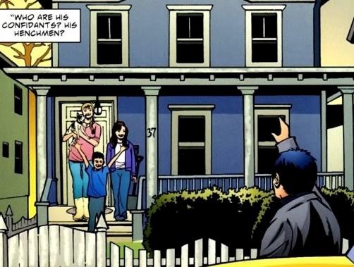Suburban families definitely make the most evil henchmen. (Art by Walt Flanagan)