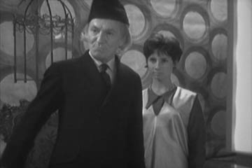 The first Doctor and Susan. If you want to understand what the show is all about, seek out some of these early eps, they're pretty cool.