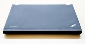 the Lenvo x230 laptop, closed