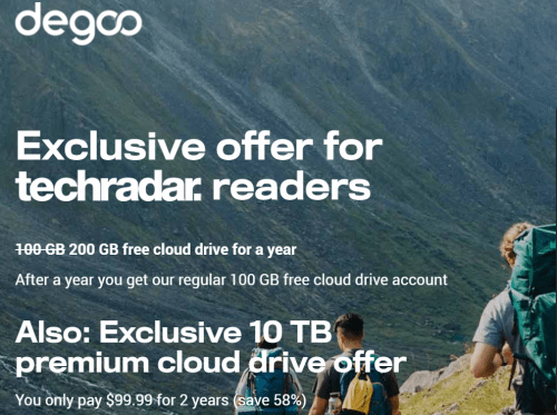 200 gigs of free cloud storage