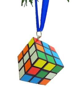 Colored Cube Christmas Ornament