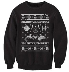 FreshRags Star Wars Parody Vader Ugly Christmas Sweater Sweatshirt