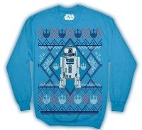 Men's Disney Star Wars R2D2 Ugly Sweater Christmas Edition Crewneck Sweatshirt
