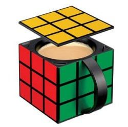 Rubiks Cube Coffee Mug Insulated with Removable Lid