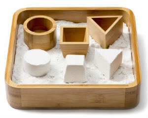 Sand Tray Set - Bamboo Executive Sandbox