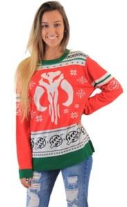 Star Wars Mandalorians Bounty Hunter Snowflakes Unisex Ugly Christmas Sweater